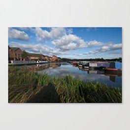 Barton Marina Narrow Boats Canvas Print