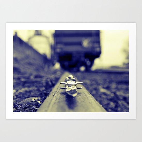 Switchblade blurism Art Print