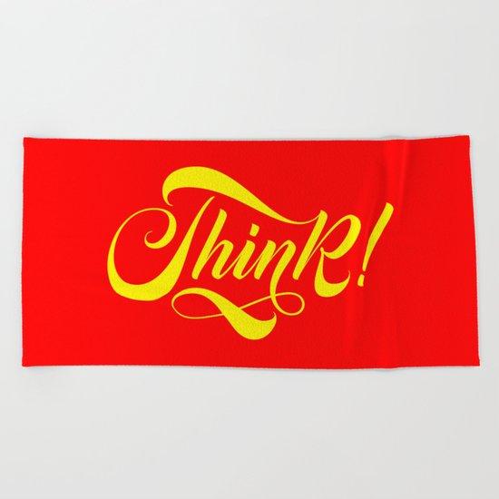 Think! Beach Towel