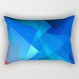 Poetry blue with red detail Rectangular Pillow