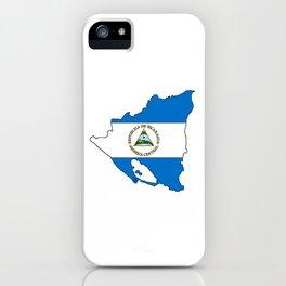 Nicaragua Map with Nicaraguan Flag iPhone Case