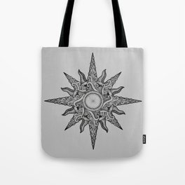 Surf in a windrose – compass (tattoo style) Tote Bag