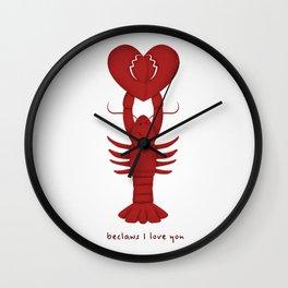 Loving Lobster Wall Clock