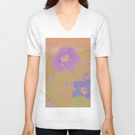 Georgia Blue, The Earth Laughs In Flowers Unisex V-Neck