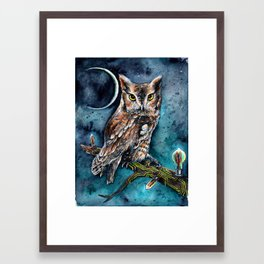 In a Certain Thermionic Light Framed Art Print