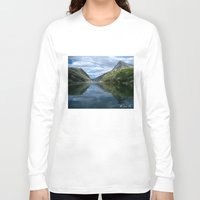 norway Long Sleeve T-shirts featuring Rondane - Rondevannet  Norway by AstridJN
