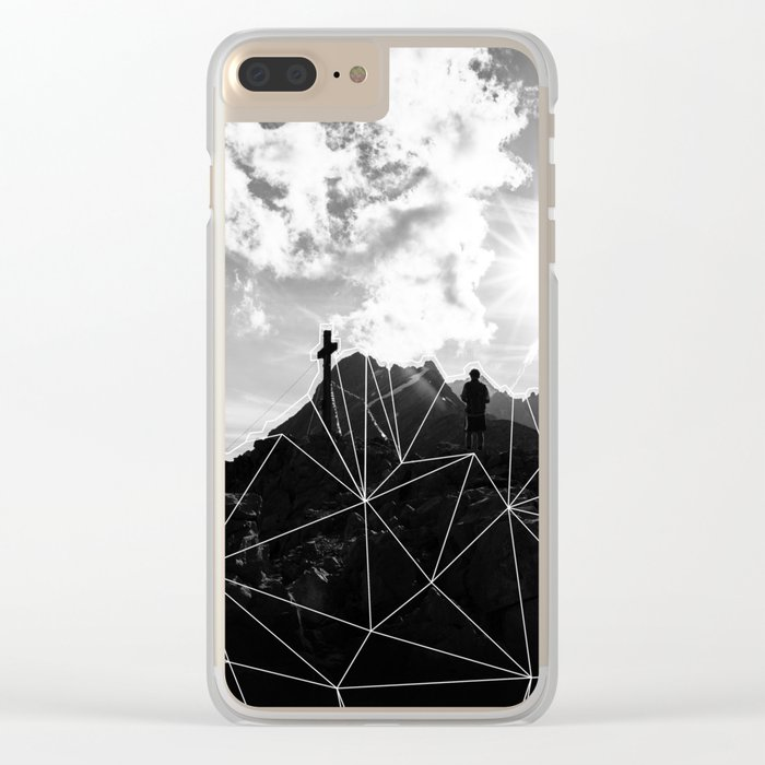 Crystal Mountain II Clear iPhone Case