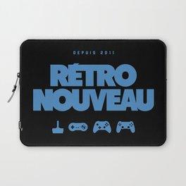 Rétro Nouveau (Bleu) Laptop Sleeve