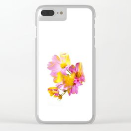 New Mixed Era -  Purple Faced Flower Clear iPhone Case