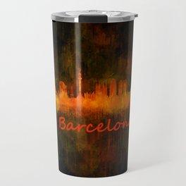 Barcelona City Skyline Hq _v4 Travel Mug