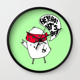 Punk Chick Wall Clock