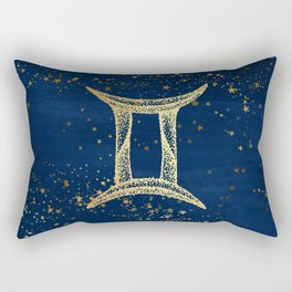 Gemini Zodiac Sign Rectangular Pillow