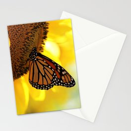 Monarch Sunflower Stationery Cards