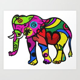 psychedelephant Art Print