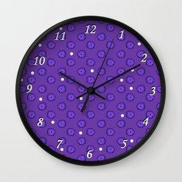Purple flowers on purple Wall Clock