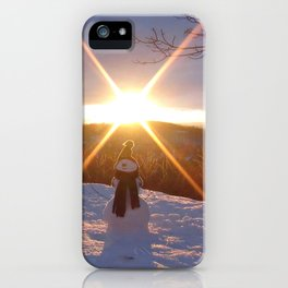 Travel with Mr Snowman iPhone Case