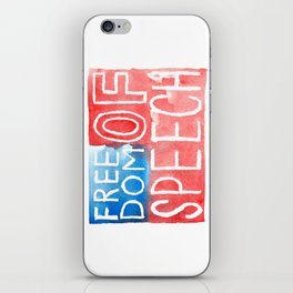 Freedom of Speech - Watercolor Flag iPhone Skin