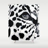 cheetah Shower Curtains featuring cheetah by Augusto Menestrina