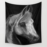 arab Wall Tapestries featuring Arab horse portrait by Mindgoop