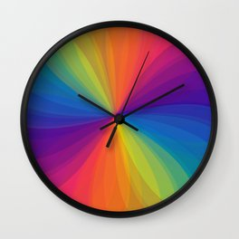 Rainbow Pattern Wall Clock