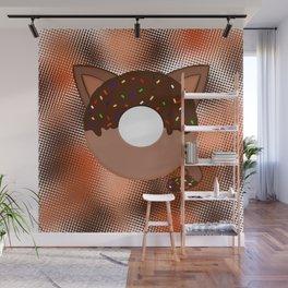 Donut cat Wall Mural