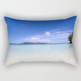 Clear blue ocean water in Similan Thailand Rectangular Pillow