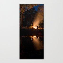 Doggo an Campfires Canvas Print