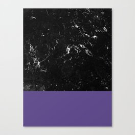 Ultra Violet Meets Black Marble #1 #decor #art #society6 Canvas Print