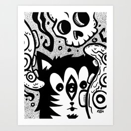 The Nether Cat Art Print