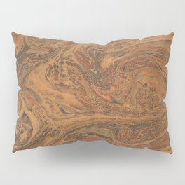 Marbled Bronze paper Pillow Sham