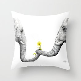 """Up Close You Are More Wrinkly Than I Remembered"" Throw Pillow"