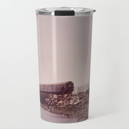 NEW YORK SUBWAY IS ABOVE GROUND WHEN IT CROSSES JAMAICA BAY AREA Travel Mug