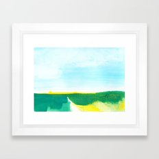 Distant forest abstract landscape Framed Art Print