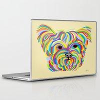 yorkie Laptop & iPad Skins featuring Yorkshire Terrier - YORKIE! by EloiseArt