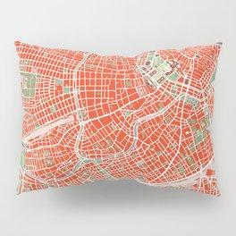 Vienna city map classic Pillow Sham