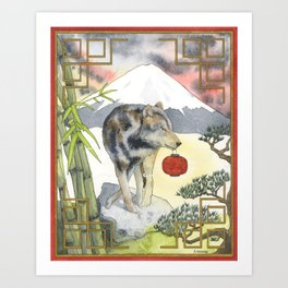 2018 Chinese New Year of the Earth Dog Art Print