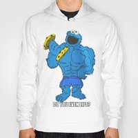 cookie monster Hoodies featuring The Cookie Monster Lifts by VeilSide07