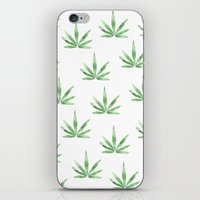 cannabis iPhone & iPod Skins featuring Cannabis   by kristinesarleyart