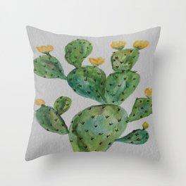 Desert Garden Botanic Throw Pillow