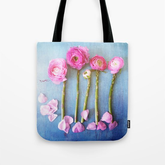 Wild Flowers and Spring Asparagus Tote Bag
