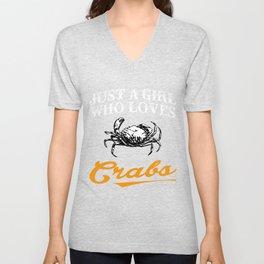 Crabs T Shirts For Girls Unisex V-Neck