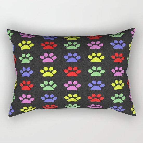 Paw Prints Pattern II Rectangular Pillow