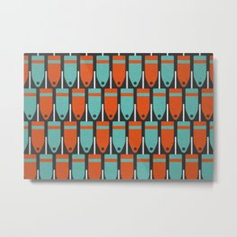 Buoys, Orange & Blue Metal Print