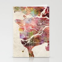 vancouver Stationery Cards featuring Vancouver by MapMapMaps.Watercolors