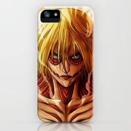 Annie leonhardt Titan Artwork iPhone Case