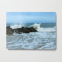Saltwater Splash Metal Print