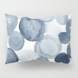 Pebbles Watercolor Abstract Pillow Sham