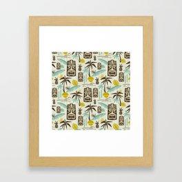 Island Tiki - Tan Framed Art Print