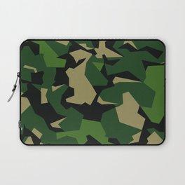 Camouflage Splinter Pattern Green Barret Laptop Sleeve