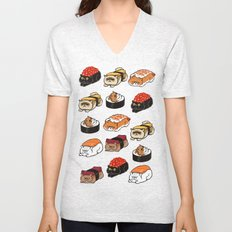 Sushi Persian Cat Unisex V-Neck